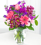 Garden Beauty Bouquet With Vase