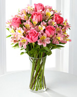 Dreamland Pink Bouquet With Vase