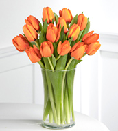 Autumn Fire Orange Tulips Bouquet