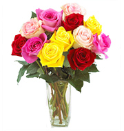 FTD Mixed Color Roses Vasae