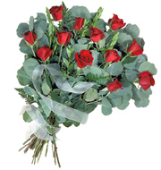 Simply Roses Wrapped Bouquet