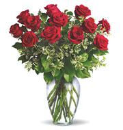 Always On My Mind Dozen Roses Vase