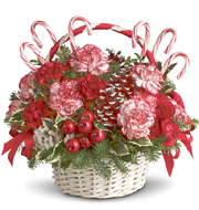 The Candy Cane Basket