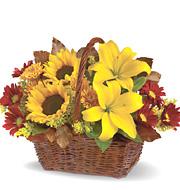 Golden Days Flowers Basket