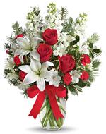 Holiday Snowflakes Flowers Vase