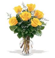 Fancy Half Dozen Yellow Roses