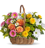 Sweet Tranquility Flowers Basket